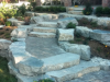 armour stone and natural stone steps